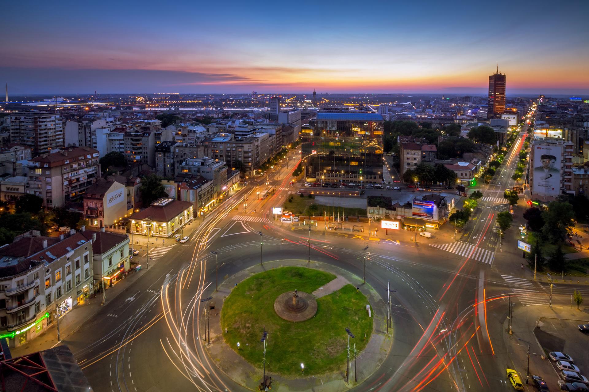 Slavija Square Belgrade